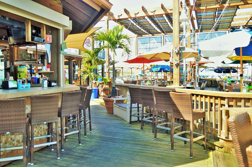 Rusty's Seafood Waterfront Deck in Port Canaveral