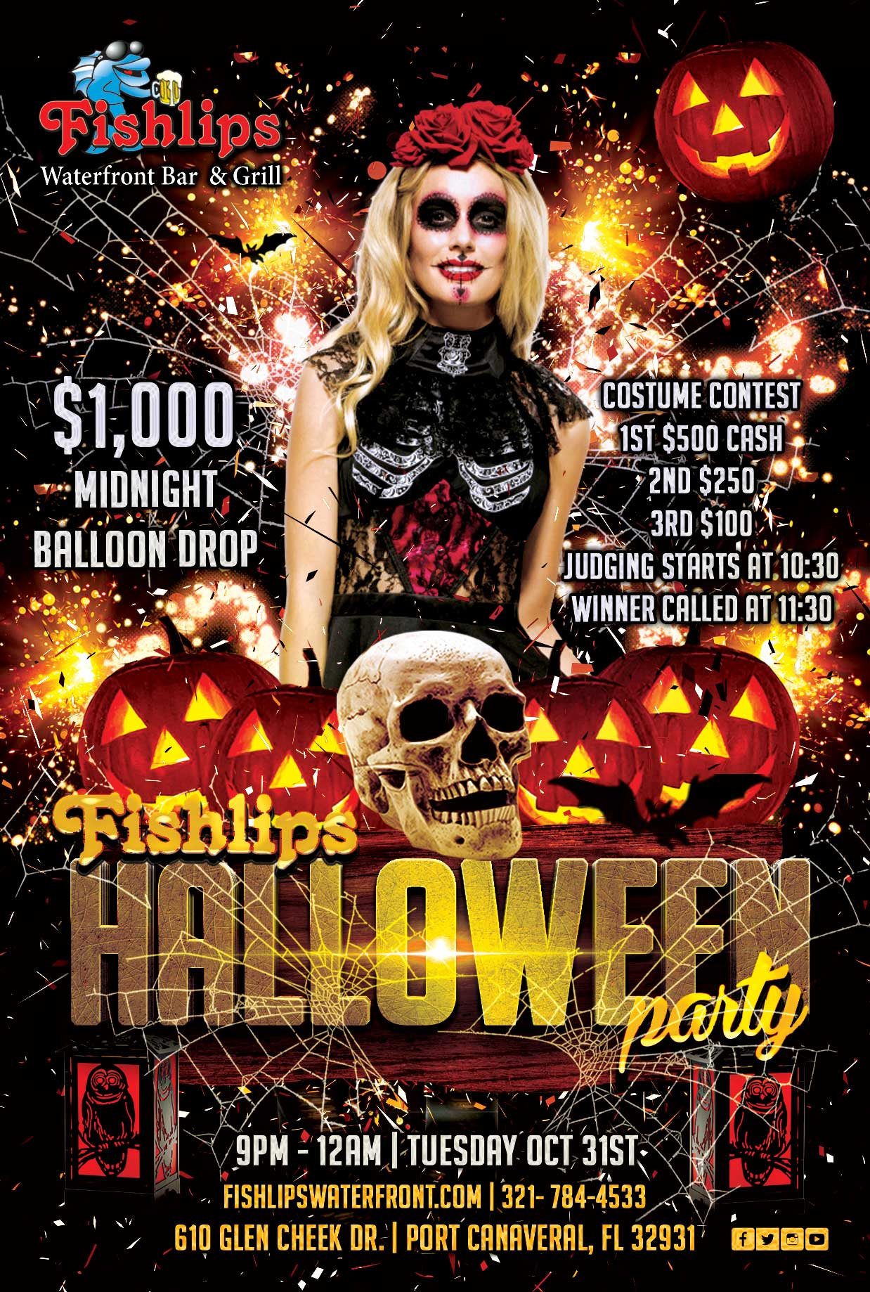 Halloween Parties in Port Canaveral at Rusty's & Fishlips Waterfront