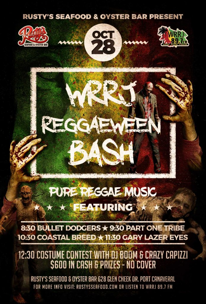 Reggaeween Halloween Parties at Rusty's Seafood & Oyster Bar