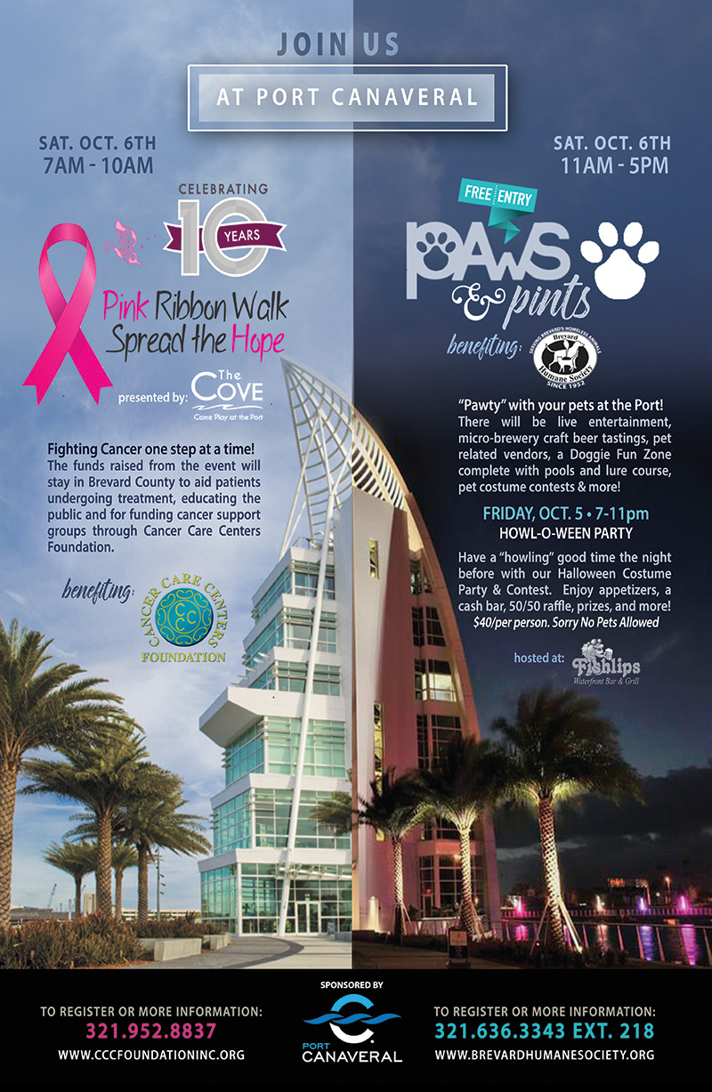 Paws and Pints and Pink Ribbon Walk in Port Canaveral