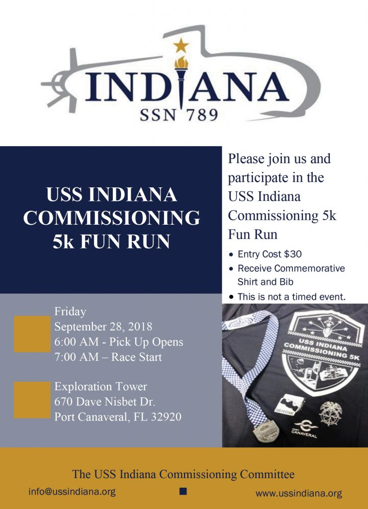 USS Indiana Commissioning 5K Fun Run in Port Canaveral