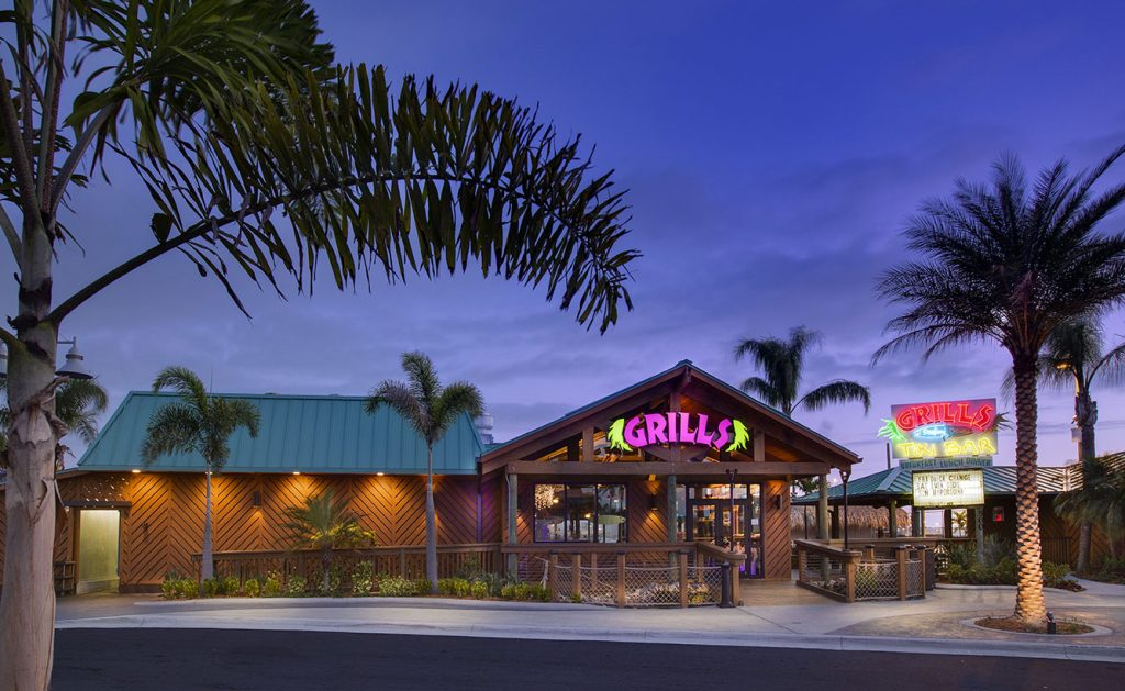 Grills Seafood Deck & Tiki Bar in Port Canaveral