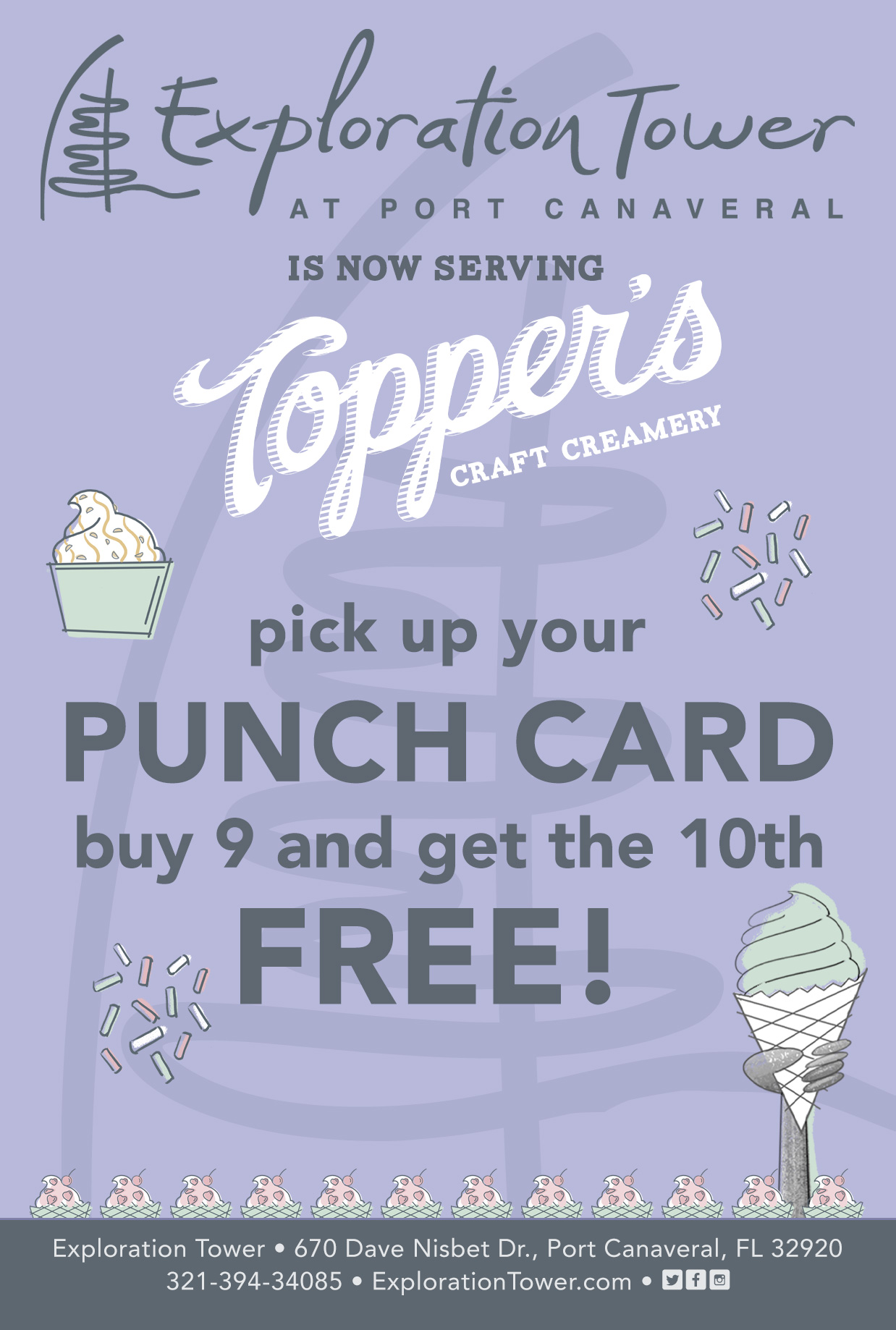 Topper's Ice Cream Now Available at Exploration Tower