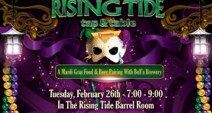 Food and beer pairing at rising tide tap and table featuring bell's brewery