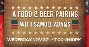 Sameul Adams Food and Beer Pairing at Rising Tide tap and table in Port Canaveral