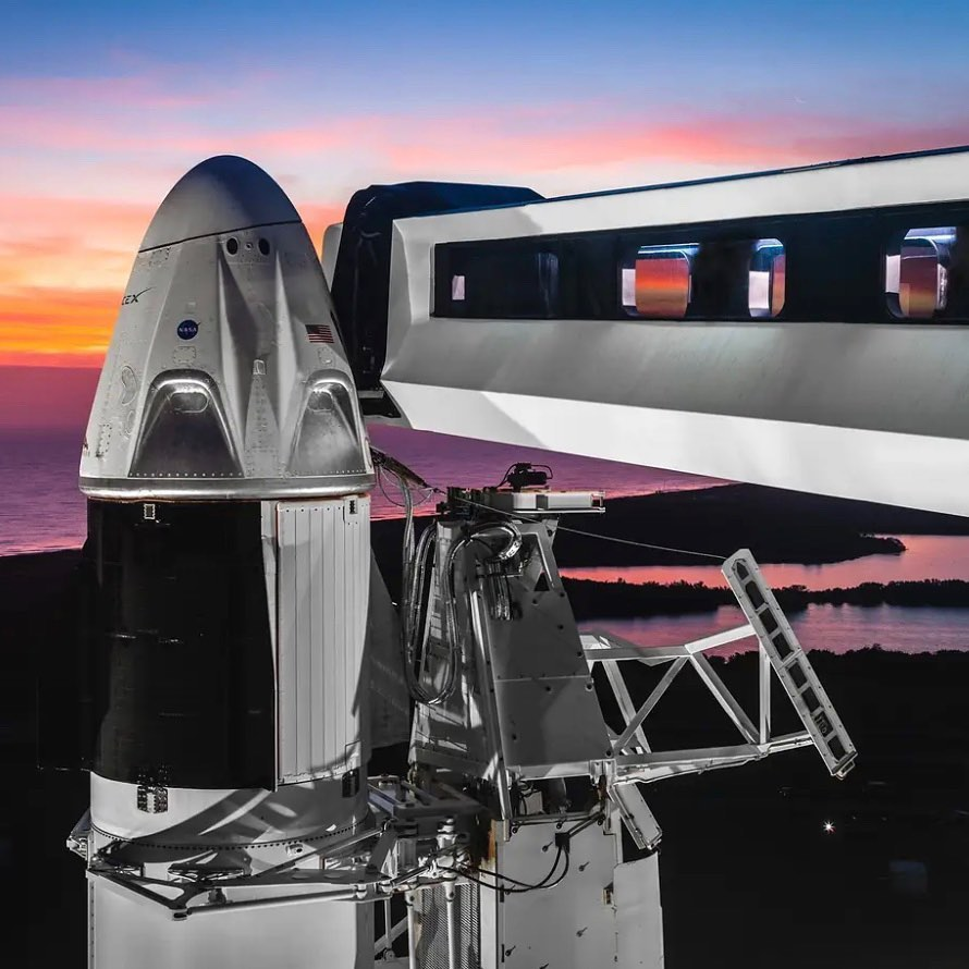 SpaceX Crew Dragon Launch Cape Canaveral